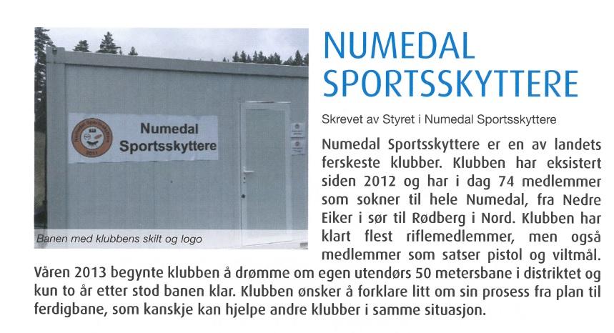 Skytternytt 2015 Numedal Sportsskyttere reportasje bilde